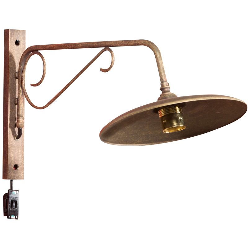 Biscottini - Lampada a muro in fusione di ottone L60XPR27XH30 cm Made in Italy