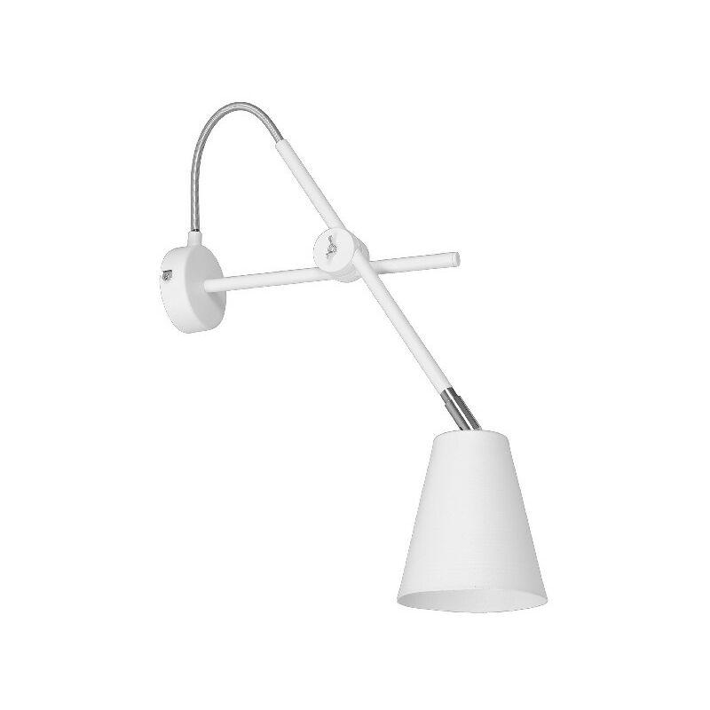 Homemania - Lampada a Parete Crush - Applique - da Soggiorno, Camera - Bianco, Grigio in Metallo, 33 x 12 x 54 cm, 1 x E27, 60W