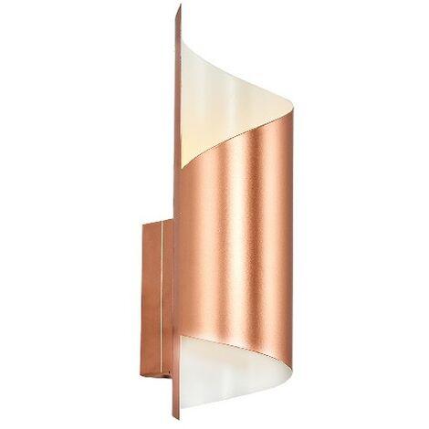 Lampada a Parete Marte Applique - Oro Rosa, Bianco in Metallo, 8 x 10 x 27 cm, 1 x G9, Max 5W