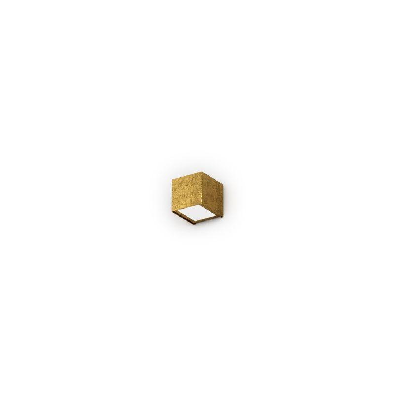 Lampada a Parete Toy - Applique - Quadrata - Oro in Metallo, Vetro, 7,5 x 8,5 x 7,5 cm, 1 x G9, Max 48W, 220-240V - HOMEMANIA