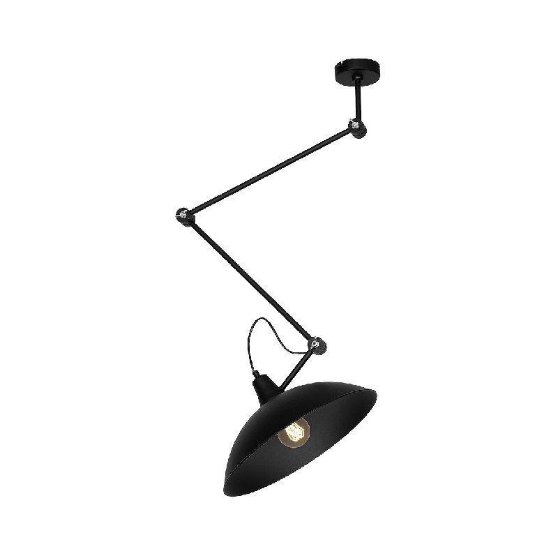 Homemania - Lampada a Soffitto Aquilae - Plafoniera - da Parete - Nero in Metallo, 50 x 37 x 95 cm, 1 x E27, Max 60W