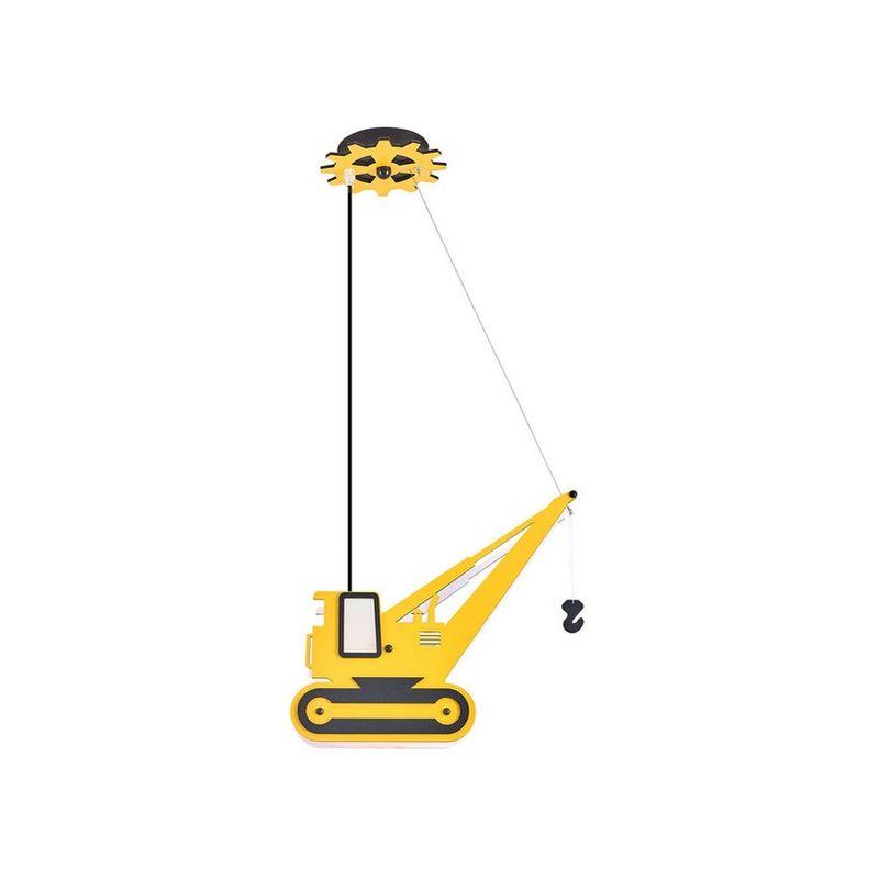 Homemania - Lampada a Sospensione Crane Lampadario - da Soffitto - Giallo 50 x 12 x 100 cm, 2 x E14, 13W