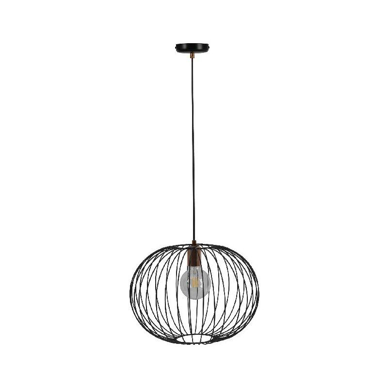 Homemania - Lampada a Sospensione Dalia - Lampadario - da Soffitto - Nero in Metallo, 40 x 40 x 90 cm, 1 x E27, Max 100W