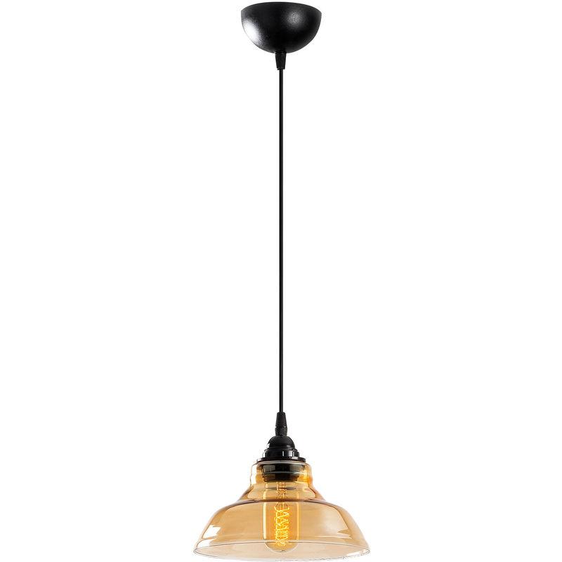 Lampada A Sospensione 'Dilberay' Nero 1 x E 27 Senza Lampadina [OPV-521SHN3231] (OPV-521SHN3231)