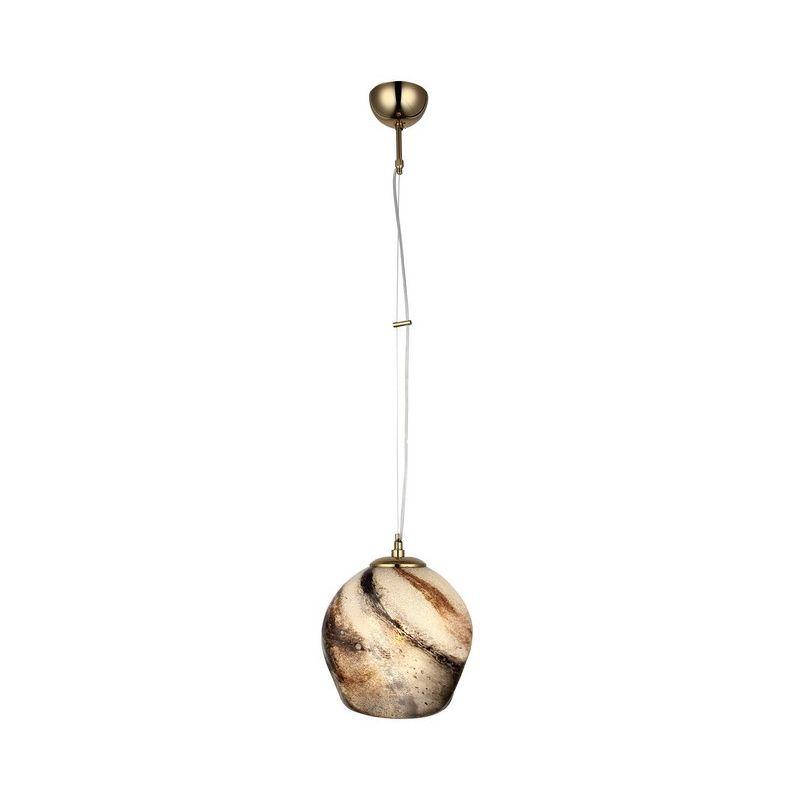 Lampada a Sospensione Marbe Lampadario - da Soffitto Multicolore Metallo, Vetro, 22 x 22 x 120 cm, 1 x E27, 40W