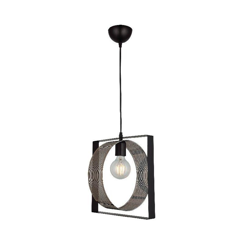 Lampada a Sospensione Moke - Lampadario - da Soffitto - Nero, Rame in Metallo, 8 x 29 x 109 cm, 1 x E27, Max 40W - HOMEMANIA