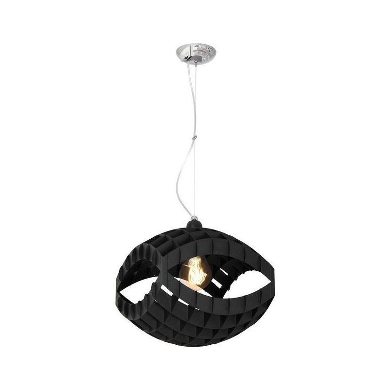 Homemania - Lampada a Sospensione Pegasi - Lampadario - da Soffitto - Nero in Metallo, 32 x 32 x 70 cm, 2 x E27, Max 60W