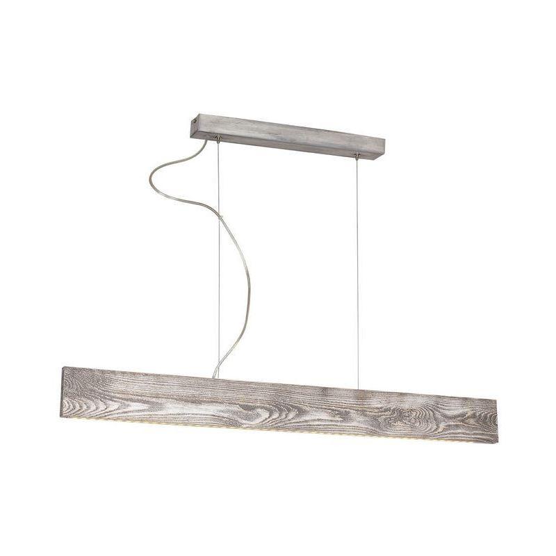 Lampada a Sospensione Pictor - Lampadario - da Soffitto - Grigio in Metallo, Legno, 90 x 5 x 84 cm, 0,00