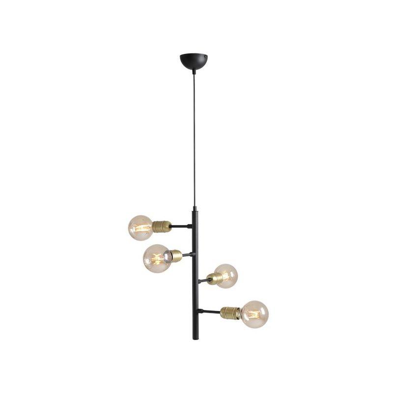 Lampada a Sospensione Puppis - Lampadario - da Soffitto - Nero in Metallo, 85 x 32 x 50 cm, 3 x E27, Max 60W