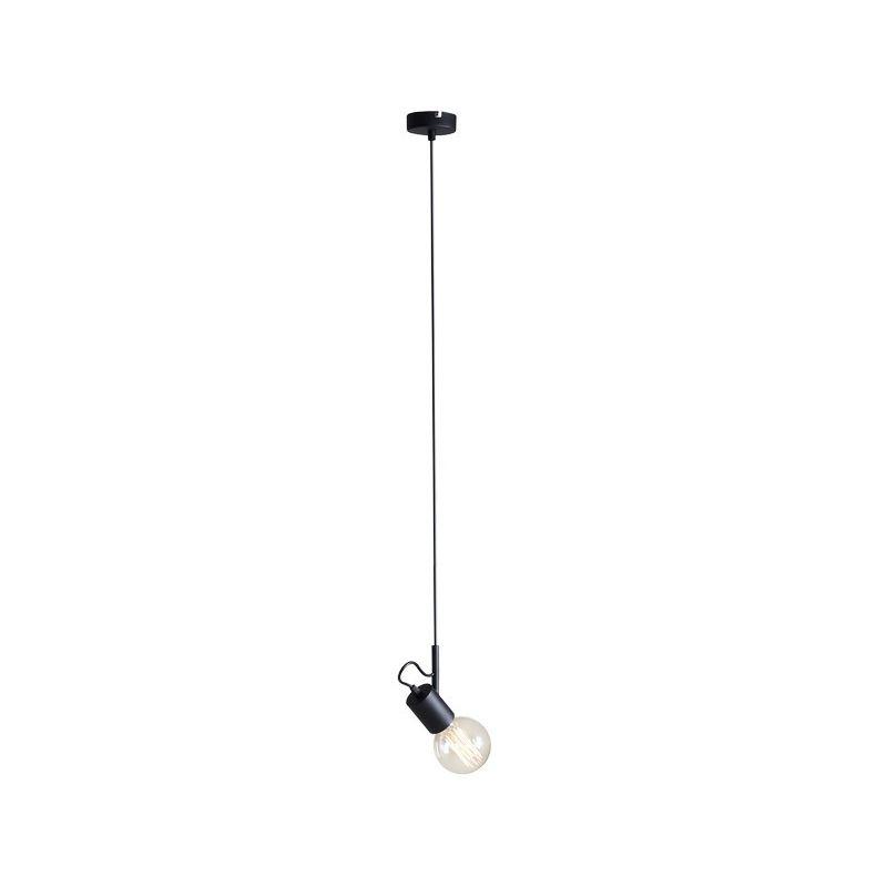 Homemania - Lampada a Sospensione Tau - Lampadario - da Soffitto - Nero in Metallo, 12 x 110 x 8 cm, 1 x E27, Max 60W