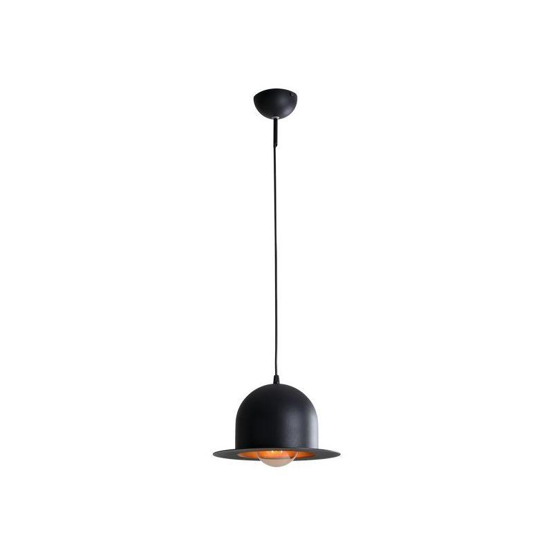 Homemania - Lampada a Sospensione Tucanae - Lampadario - da Soffitto - Nero in Metallo, 26 x 26 x 70 cm, 1 x E27, Max 60W