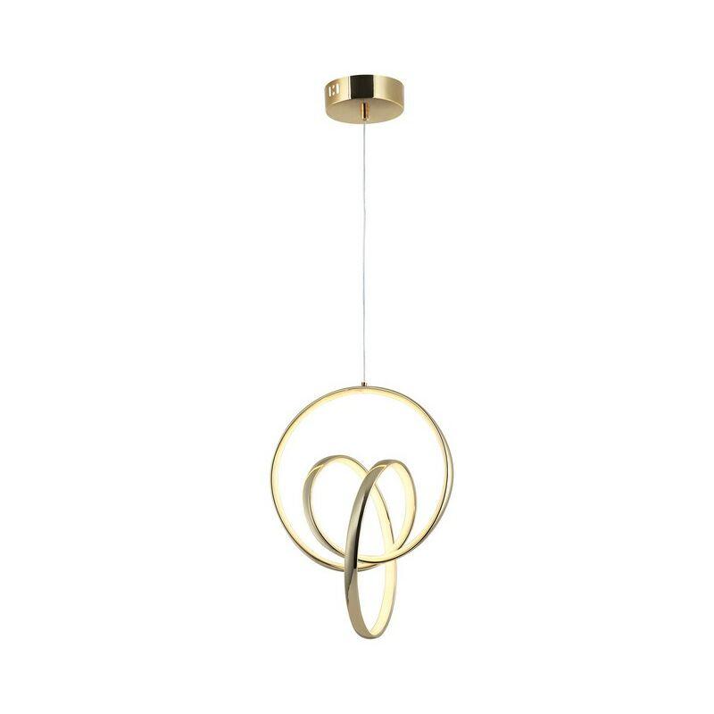Homemania - Lampada a Sospensione Vegas - Lampadario - da Soffitto - Oro in Metallo, 29 x 32 x 120 cm, 1 x LED, 20W, 3000K, 936lm