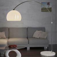 Lampada ad arco di design con base in marmo regolabile in altezza 146-220cm