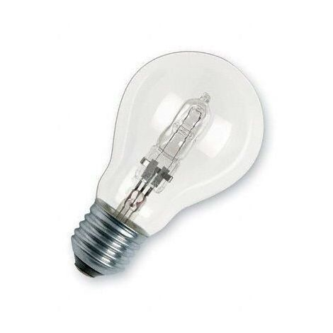 Lampada alogena normale 70 w 100 e27 chiara trasparente for Lampada alogena