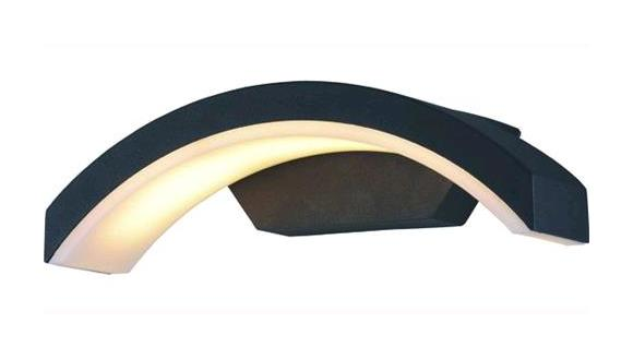 Lampada applique led vigor per esterni burgos alluminio 7 5w 330lm 3000k