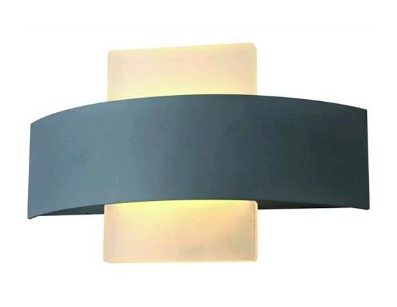 Lampada applique led vigor per esterni cordoba alluminio w lm