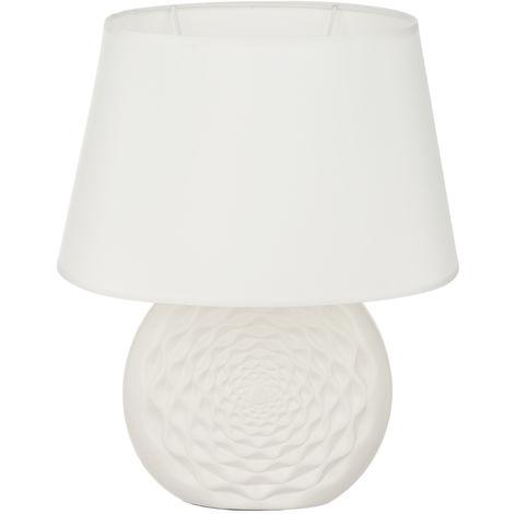 Lampada Avorio Brandani In Ceramica, Da 28x35,5x20 Cm Bianco