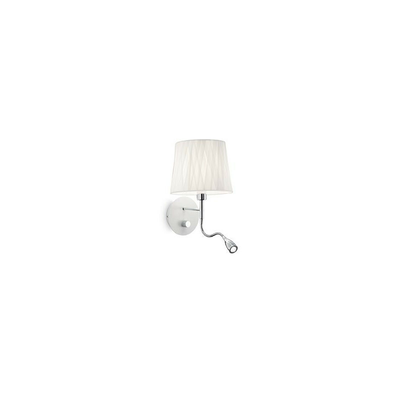 Lampada a parete Effetti AP2 bianca E14 e LED 1W 132976 - Ideal Lux
