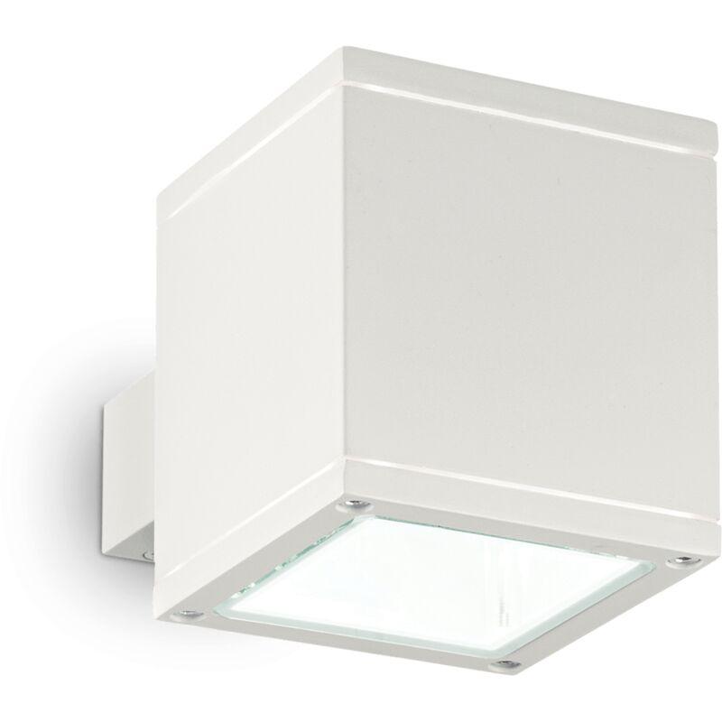 Lampada Da Parete 1 Luce Snif Ap1 Square Bianco