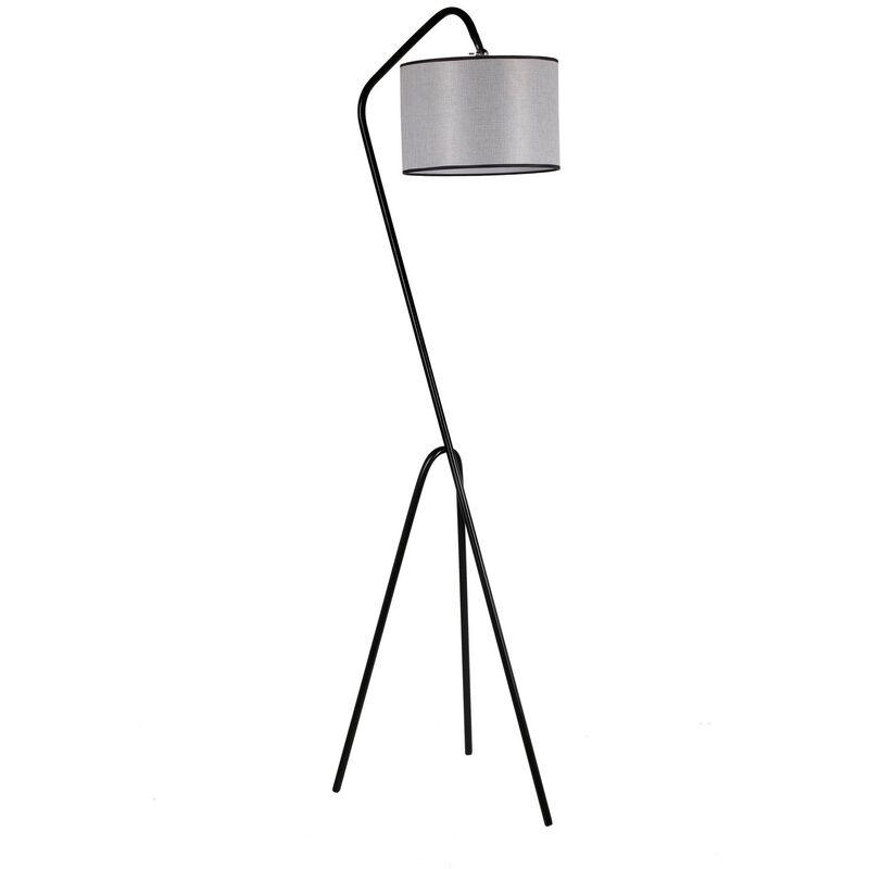 Greenice - Lampada Da Pavimento '8302-4' Nero/Gris 1xE27 Senza Lampadina [OPV-534LUN2229] (OPV-534LUN2229)