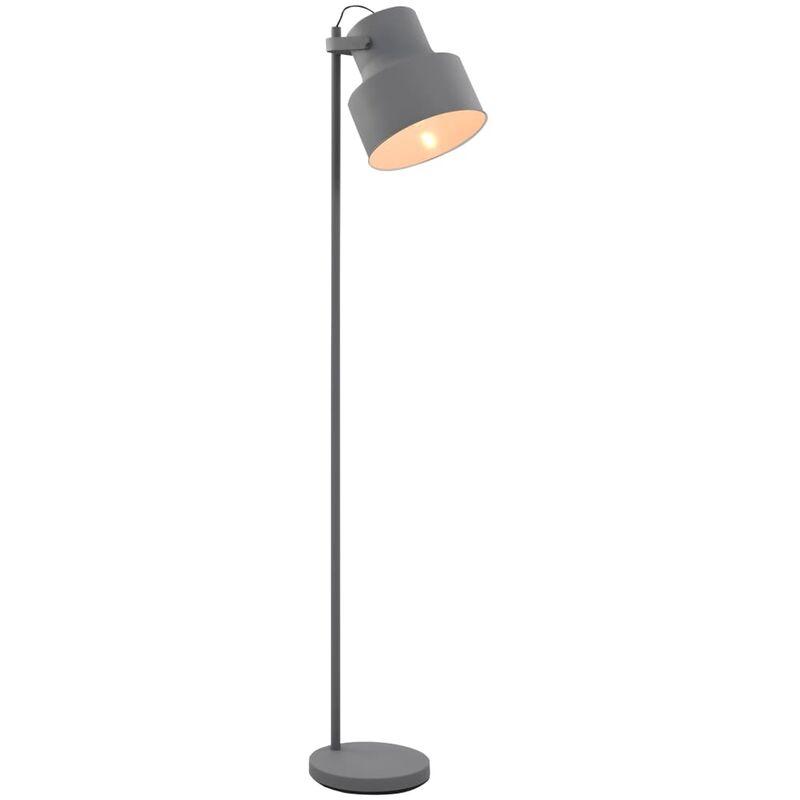 vidaXL Lampada da Pavimento in Metallo Grigio E27 - Grigio