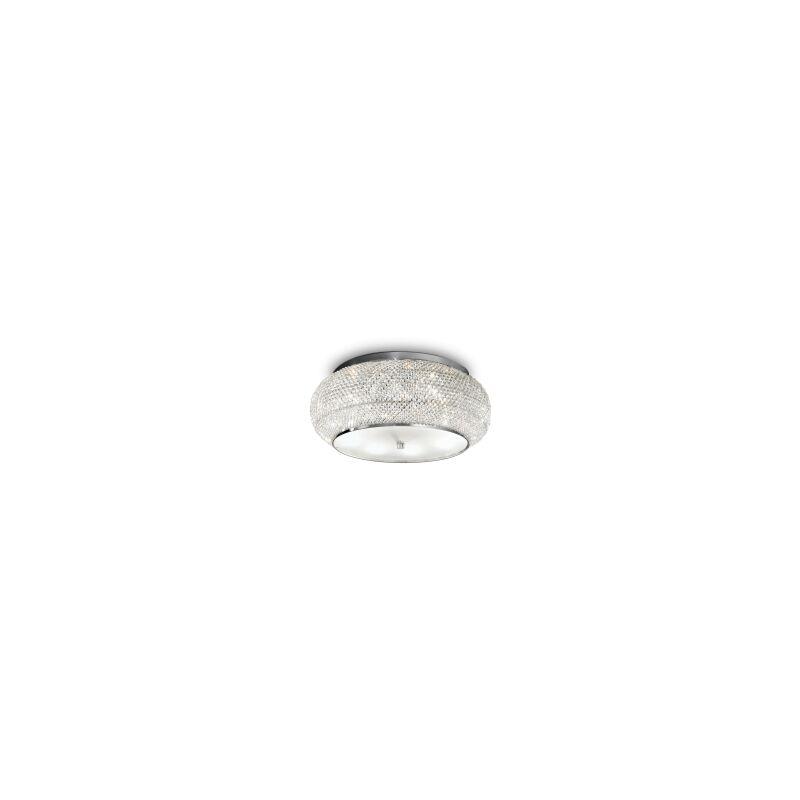 Argonauta - Lampada da soffitto da dieci luci. cromata
