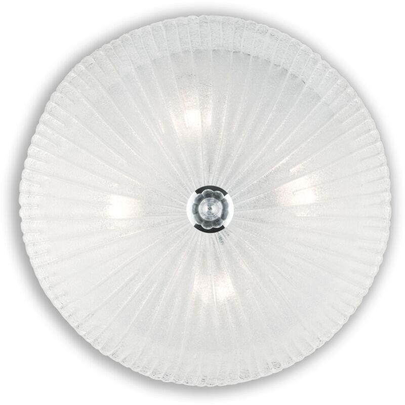 Ideal Lux - LAMPADA DA SOFFITTO 4 LUCI SHELL PL4 AMBRA