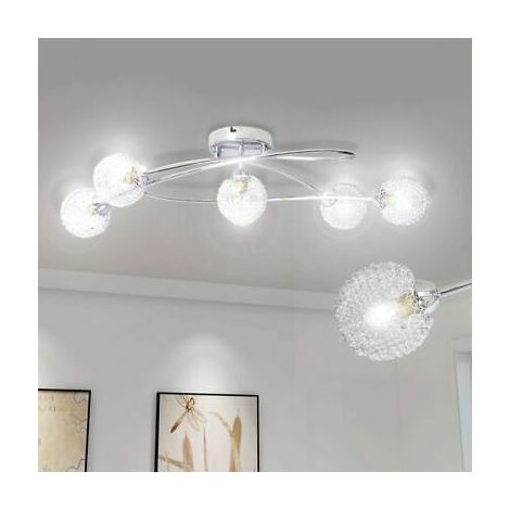 Lampada da soffitto con paralume lampadario con rete