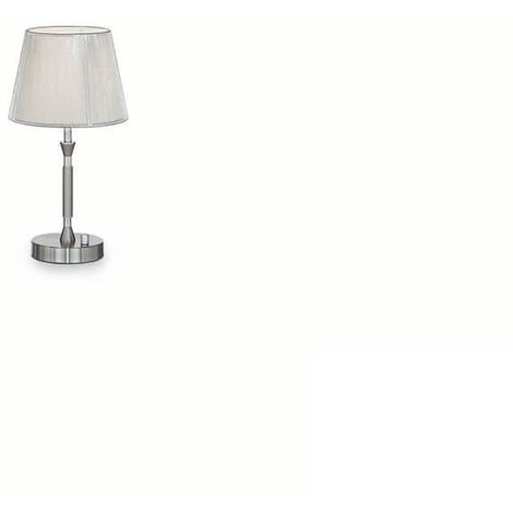 Lampada Da Comodino Argento.Lampada Da Tavolo 5 X 60w E27 Ideal Lux Argento
