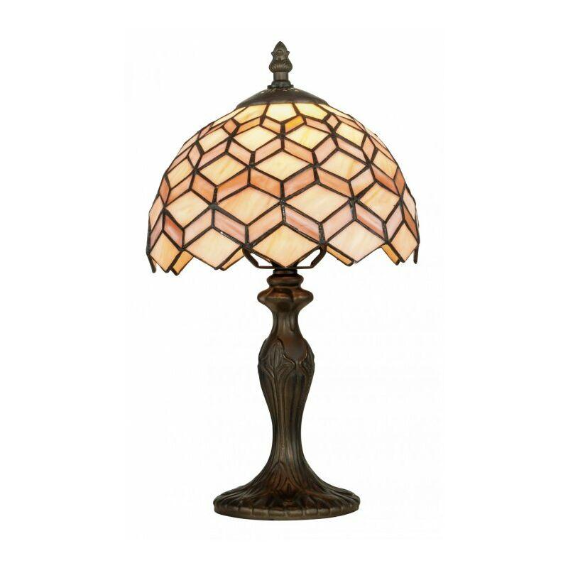Lampada da tavolo classica con decoro astratto 60 watt E27 - SHOP-DAY