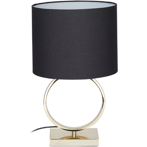 Comodino Lampade Camera Da Letto Design.Lampada Da Tavolo Dorata Rotonda Dal Design Originale E27