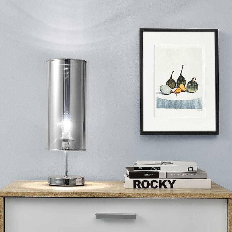 [lux.pro] - Lampada da tavolo 'Gloss' (44cm x Ø 13,5cm)(1x E14 Sockel) lampada da tavolo lampada da comodino lampada da scrittoio