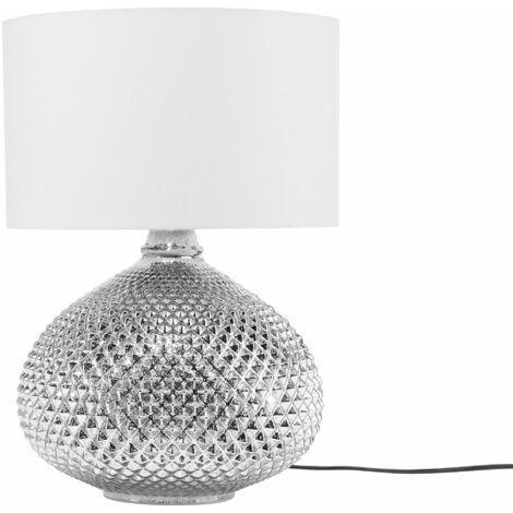 Lampada da tavolo in color argento MADON