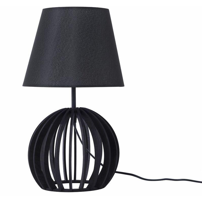 Lampada da tavolo in legno nero SAMO - BELIANI