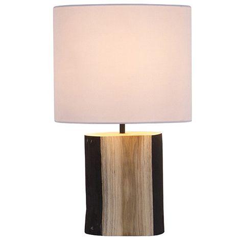Lampada Da Scrivania Legno.Lampada Da Tavolo Legno Di Noce 24 X 24 X 47 Cm S0110346