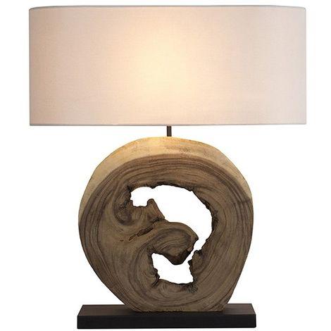 Lampada Da Scrivania Legno.Lampada Da Tavolo Legno Di Noce 55 X 20 X 70 Cm S0110345