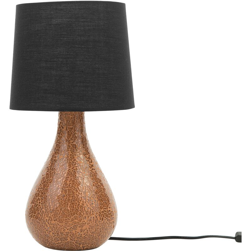 Lampada da tavolo nera / rame 47 cm ABRAMS - BELIANI