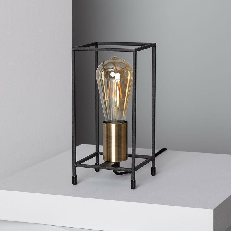 Ledkia - Lampada da Tavolo Pedrerol Nero
