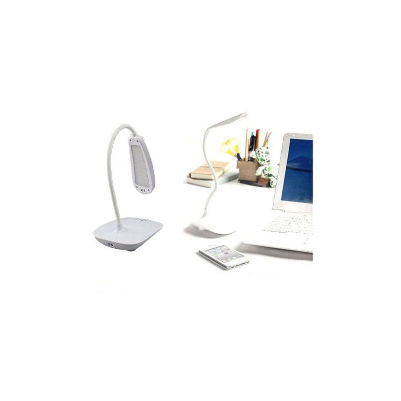 Lampada da tavolo scrivania 18 led pile usb touch 3 luminositÀ snodabile interno