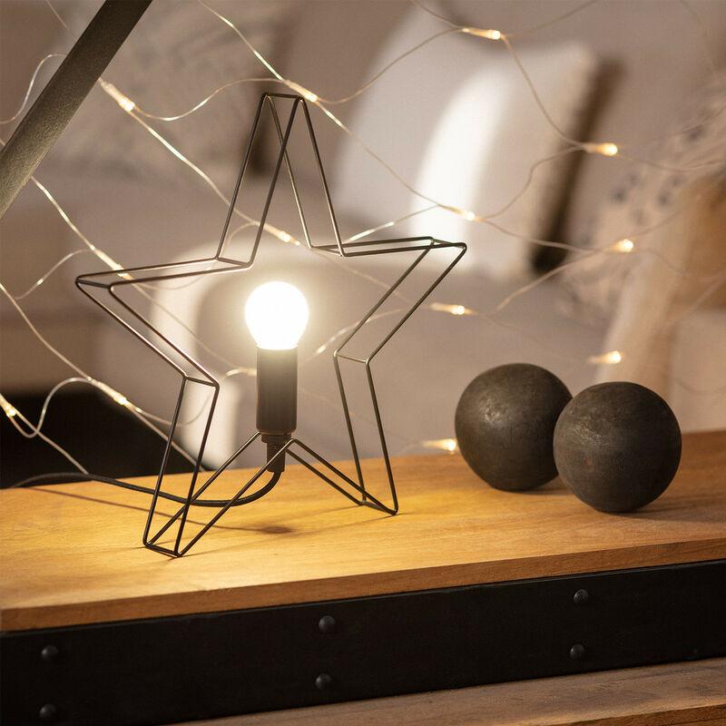 Ledkia - Lampada da Tavolo Stella Nero