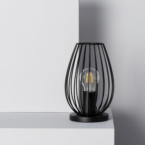 Lampada da Tavolo Telmi Nera Nero