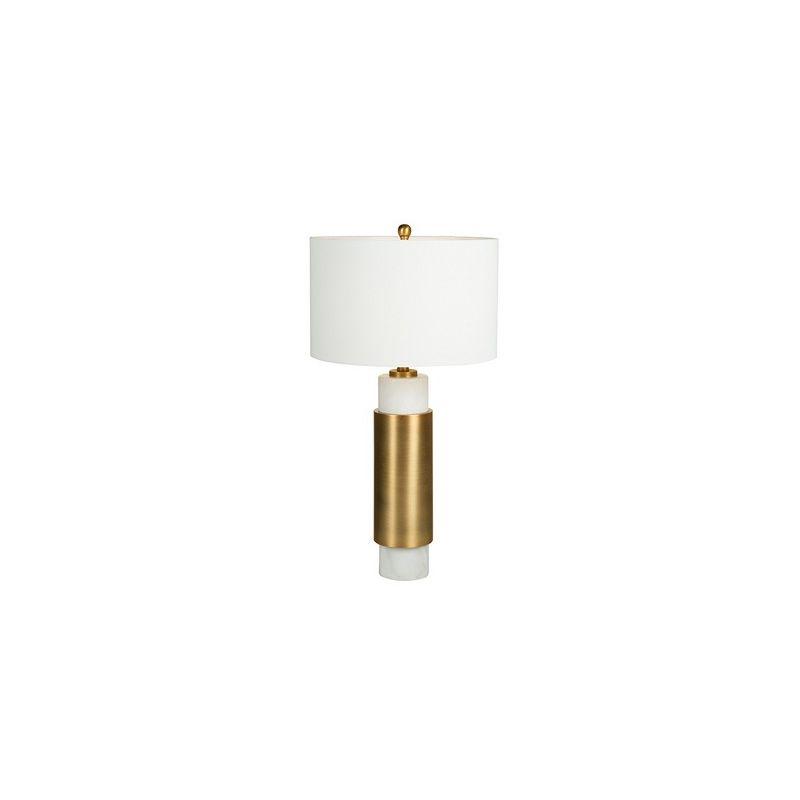Lampada da Tavolo White Cylinder (40 x 76 x 40 cm)