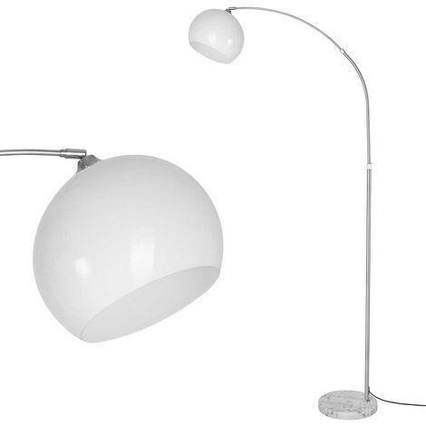 HOMCOM Lampada da Terra per Studio e Soggiorno Paralume Regolabile Lampadina E27 Metallo Legno 54 x 30 x 155 cm