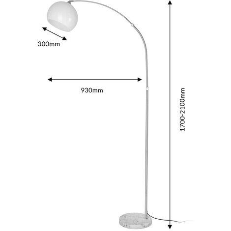 Lampada Da Terra Ad Arco Piantana Retro Salotto Studio Con