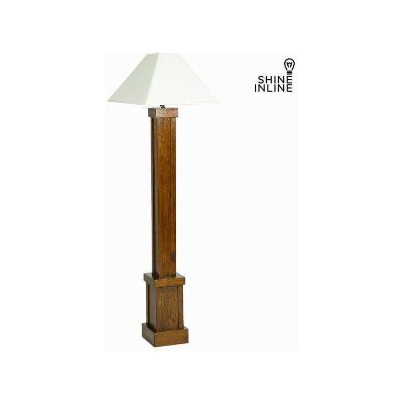 Lampada da Terra Legno di mindi (173 x 40 x 40 cm) by Shine Inline - CLICCANDOSHOP