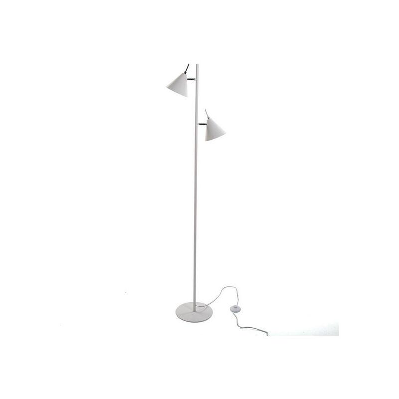 Lampada da Terra Swing White Metallo (23 x 150 x 31 cm)