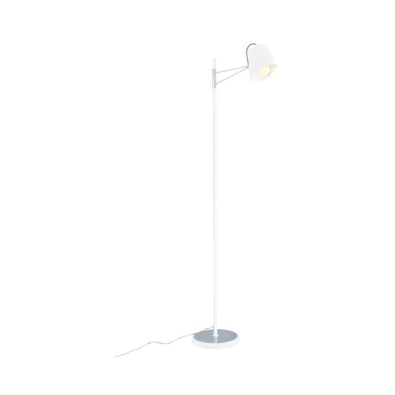 Homemania - Lampada da Terra Terebra Piantana - da Soggiorno, Salotto, Pavimento - Bianco in Metallo, 45 x 45 x 177 cm, 1xMax 40W, E14
