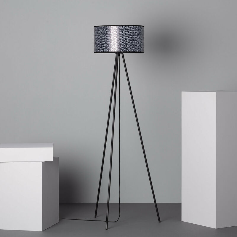 Lampada da Terra Uncia Bianco - Nero