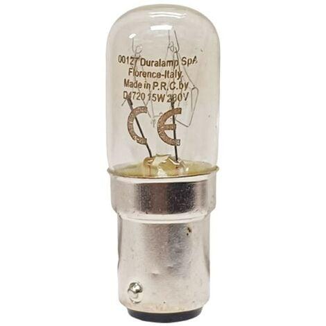 """main image of """"Lampada Duralamp per macchine da cucire 15W B15D 00127"""""""