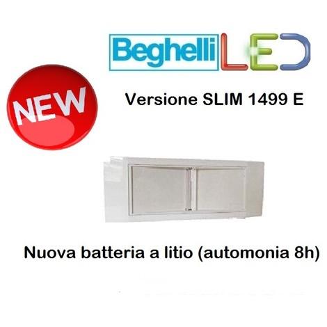 Beghelli Lampada Emergenza 1499 E Led 11w Completa Di Batteria Litio Slim Nuova